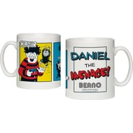 Personalised Beano Classic Comic Strip Water Pistol Ceramic Mug