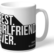 Personalised Derby County Best Girlfriend Ever Mug