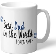 Personalised Millwall FC Best Dad In The World Mug