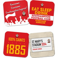 Personalised Southampton FC Coasters