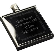 Personalised Wedding Party S/S 2oz Hipflask