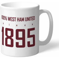 Personalised West Ham United FC 100 Percent Mug