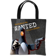 "Personalised Wallace And Gromit Feathers ""Wanted"" Tote Bag"