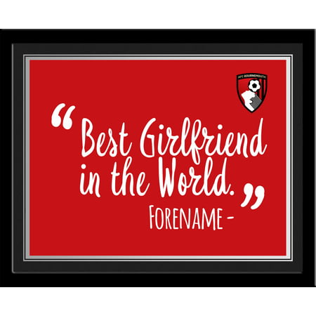 Personalised Bournemouth Best Girlfriend In The World 10x8 Photo Framed