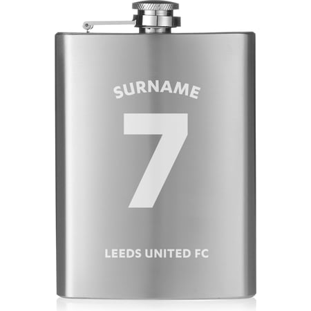 Personalised Leeds United FC Shirt Hip Flask