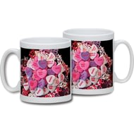 Personalised Love Heart Ceramic Mug