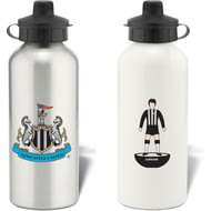Personalised Newcastle United FC Player Figure Aluminium Sports Water Bottle