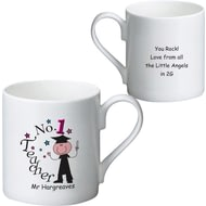 Personalised No1 Teacher Male Ceramic Mug