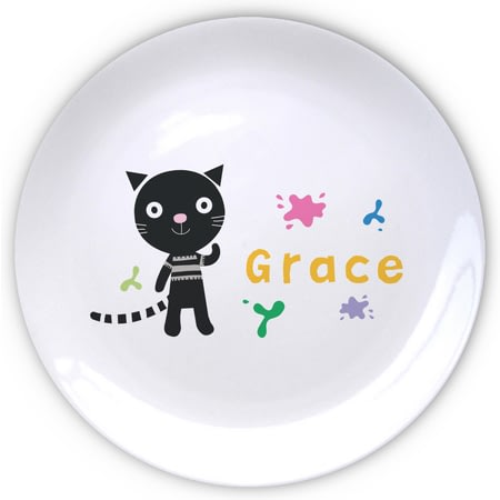 Personalised Arty Mouse Single Character Splash Plate