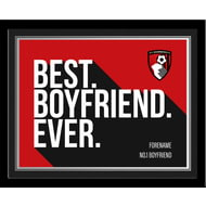 Personalised Bournemouth Best Boyfriend Ever 10x8 Photo Framed
