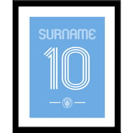 Personalised Manchester City FC Retro Shirt Framed Print