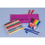 Personalised Pencil Case & Contents Purple