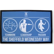 Personalised Sheffield Wednesday FC Way Rubber Backed Door Mat