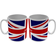 Personalised Union Jack Flag Ceramic Mug