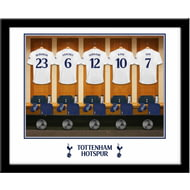 Personalised Tottenham Hotspur FC Dressing Room Shirts Framed Print