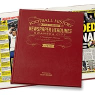 Personalised Swansea City Football Newspaper Book