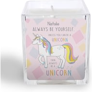 Personalised Always Be A Unicorn Square Scented Candle