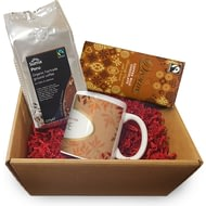 Personalised Coffee Hampers - Leaf Ceramic Mug