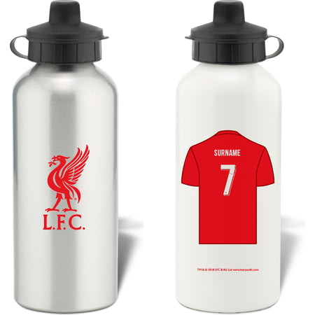 Personalised Liverpool FC Shirt Aluminium Sports Water Bottle