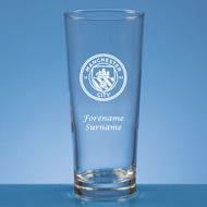 Personalised Manchester City FC Personalised Crest Beer Pint Glass