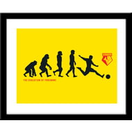 Personalised Watford Evolution Framed Print