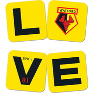 Personalised Watford FC Love Coasters (x4)