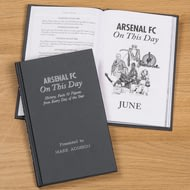 Personalised Arsenal FC On This Day Football History Book