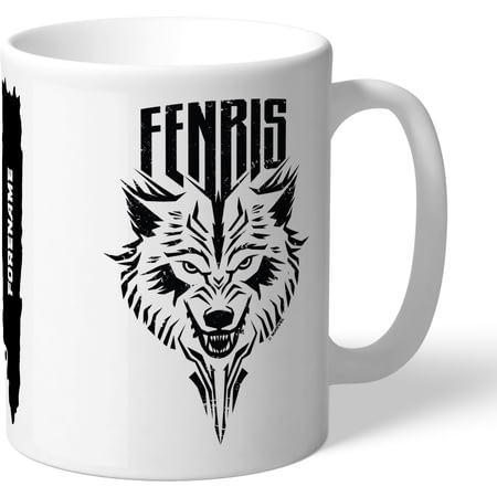 Personalised Marvel Thor Ragnarok Fenris Badge Mug