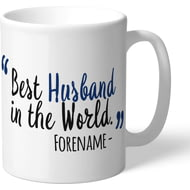Personalised Millwall FC Best Husband In The World Mug