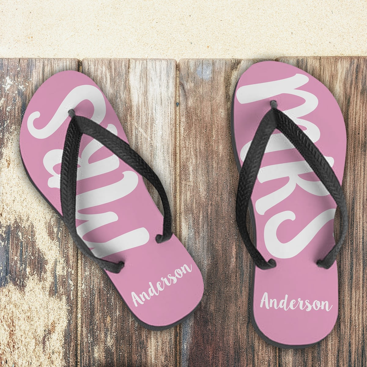1851d7a6a745b Personalised MRS Small Flip Flops  Personalised MRS Small Flip Flops