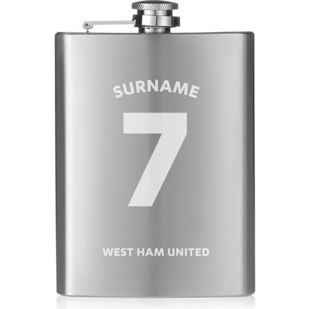 Personalised West Ham United FC Shirt Hip Flask