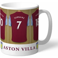 Personalised Aston Villa FC Dressing Room Shirts Mug