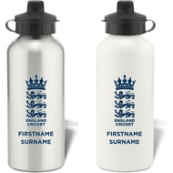 Personalised England Cricket Bold Crest Water Bottle
