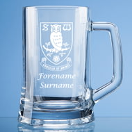 Personalised Sheffield Wednesday FC Crest Stern Glass Pint Tankard