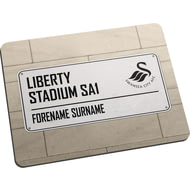 Personalised Swansea City AFC Street Sign Mouse Mat