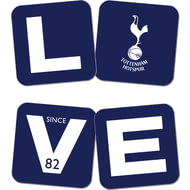 Personalised Tottenham Hotspur Love Coasters (x4)