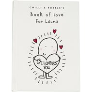 Personalised Chilli & Bubble's Book Of Love For Her
