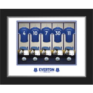 Personalised Everton FC Dressing Room Shirts Photo Folder