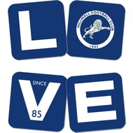 Personalised Millwall FC Love Coasters (x4)