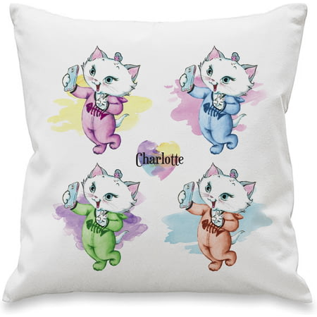 Personalised Nina Kitten Multi Selfie Cushion