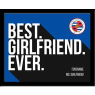 Personalised Reading Best Girlfriend Ever 10x8 Photo Framed