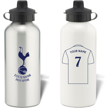 Personalised Tottenham Hotspur FC Shirt Aluminium Sports Water Bottle