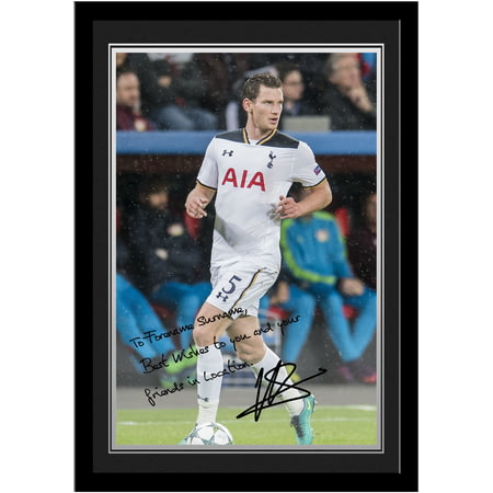 Personalised Tottenham Hotspur FC Vertonghen Autograph Photo Framed