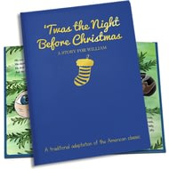 Personalised 'Twas The Night Before Christmas Embossed Classic Hardback