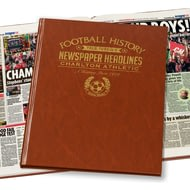 Personalised Charlton Athletic Football Newspaper Book - Leatherette Cover