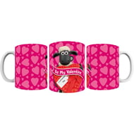 Personalised Shaun The Sheep Valentines 'Be My Valentine' Mug