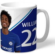 Personalised Chelsea FC Willian Autograph Mug