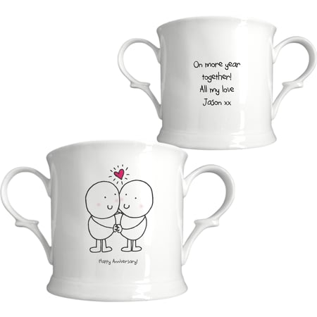 Personalised Chilli & Bubbles Anniversary Loving Cup