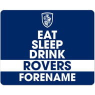 Personalised Featherstone Rovers Eat Sleep Drink Mouse Mat