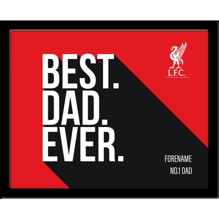 Personalised Liverpool FC Best Dad Ever 10x8 Photo Framed